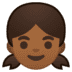 👧🏾 girl: medium-dark skin tone Emoji on Google Platform