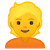 👱 person: blond hair Emoji on Google Platform