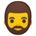 🧔 man: beard Emoji on Google Platform