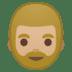 🧔🏼 man: medium-light skin tone, beard Emoji on Google Platform