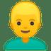 👱♂️ Blond Hair Man Emoji on Google Platform