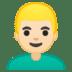 👱🏻♂️ man: light skin tone, blond hair Emoji on Google Platform