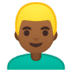👱🏾‍♂️ man: medium-dark skin tone, blond hair Emoji on Google Platform