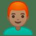 👨🏽🦰 man: medium skin tone, red hair Emoji on Google Platform
