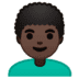 👨🏿‍🦱 man: dark skin tone, curly hair Emoji on Google Platform