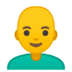 👨‍🦲 man: bald Emoji on Google Platform