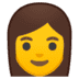 👩 woman Emoji on Google Platform