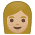 👩🏼 woman: medium-light skin tone Emoji on Google Platform