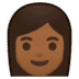 👩🏾 Medium Dark Skin Tone Woman Emoji on Google Platform