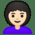 👩🏻🦱 woman: light skin tone, curly hair Emoji on Google Platform