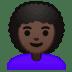 👩🏿🦱 woman: dark skin tone, curly hair Emoji on Google Platform