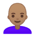 👩🏽‍🦲 woman: medium skin tone, bald Emoji on Google Platform