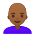 👩🏾‍🦲 woman: medium-dark skin tone, bald Emoji on Google Platform