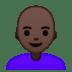 👩🏿🦲 woman: dark skin tone, bald Emoji on Google Platform
