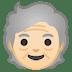🧓🏻 older person: light skin tone Emoji on Google Platform