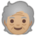 🧓🏼 older person: medium-light skin tone Emoji on Google Platform
