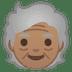 🧓🏽 older person: medium skin tone Emoji on Google Platform