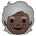 🧓🏿 Dark Skin Tone Older Person Emoji on Google Platform