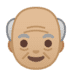 👴🏼 old man: medium-light skin tone Emoji on Google Platform