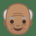 👴🏽 old man: medium skin tone Emoji on Google Platform