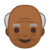 👴🏾 old man: medium-dark skin tone Emoji on Google Platform
