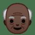 👴🏿 old man: dark skin tone Emoji on Google Platform