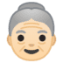 👵🏻 old woman: light skin tone Emoji on Google Platform