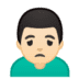 🙍🏻‍♂️ Light Skin Tone Man Frowning Emoji on Google Platform