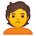 🙎 person pouting Emoji on Google Platform