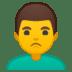 🙎♂️ man pouting Emoji on Google Platform