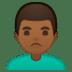 🙎🏾♂️ man pouting: medium-dark skin tone Emoji on Google Platform