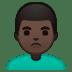 🙎🏿♂️ Dark Skin Tone Man Pouting Emoji on Google Platform