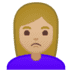 🙎🏼‍♀️ woman pouting: medium-light skin tone Emoji on Google Platform