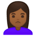 🙎🏾‍♀️ woman pouting: medium-dark skin tone Emoji on Google Platform