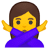 🙅‍♀️ woman gesturing NO Emoji on Google Platform
