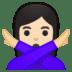 🙅🏻♀️ woman gesturing NO: light skin tone Emoji on Google Platform