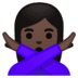 🙅🏿‍♀️ woman gesturing NO: dark skin tone Emoji on Google Platform
