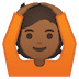 🙆🏾 person gesturing OK: medium-dark skin tone Emoji on Google Platform