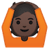 🙆🏿 person gesturing OK: dark skin tone Emoji on Google Platform