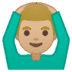 🙆🏼♂️ Medium Light Skin Tone Man Gesturing Ok Emoji on Google Platform