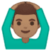 🙆🏽‍♂️ man gesturing OK: medium skin tone Emoji on Google Platform