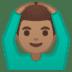 🙆🏽♂️ man gesturing OK: medium skin tone Emoji on Google Platform