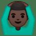 🙆🏿♂️ man gesturing OK: dark skin tone Emoji on Google Platform