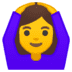 🙆‍♀️ woman gesturing OK Emoji on Google Platform