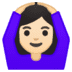 🙆🏻‍♀️ woman gesturing OK: light skin tone Emoji on Google Platform
