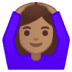 🙆🏽‍♀️ woman gesturing OK: medium skin tone Emoji on Google Platform