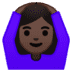 🙆🏿‍♀️ woman gesturing OK: dark skin tone Emoji on Google Platform