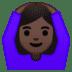 🙆🏿♀️ woman gesturing OK: dark skin tone Emoji on Google Platform