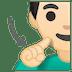 🧏🏻♂️ deaf man: light skin tone Emoji on Google Platform