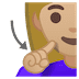 🧏🏼♀️ deaf woman: medium-light skin tone Emoji on Google Platform